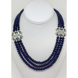 Lia Sophia Nave Beaded Rhinestone Necklace
